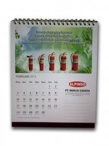 Cetak Kalender Meja per 1 Bulan (Potrait)